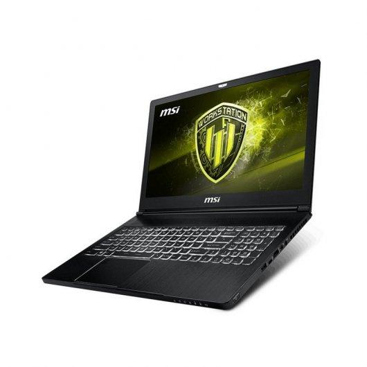 MSI WS63 8SJ-061XES, I7, 256 SSD+1TB, QUADRO P2000 4GB, 16GB, 15.6