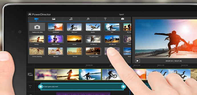 aplicaciones editar vídeos PowerDirector