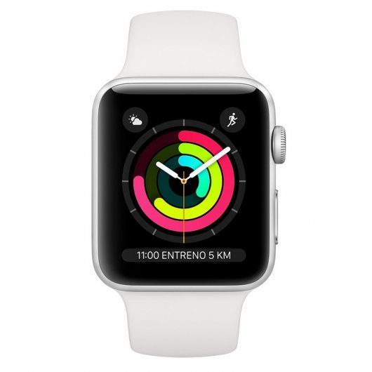 Apple Watch Series 3 GPS 42mm Aluminio Plata Con Correa Deportiva Blanca