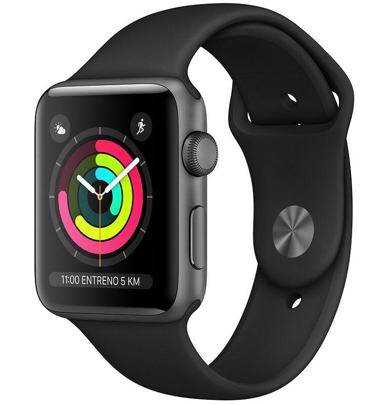 Apple Watch Series 3 8GB 38mm Gris espacial Con Correa Deportiva Negra
