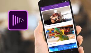 aplicaciones editar vídeos Adobe Premiere Clip