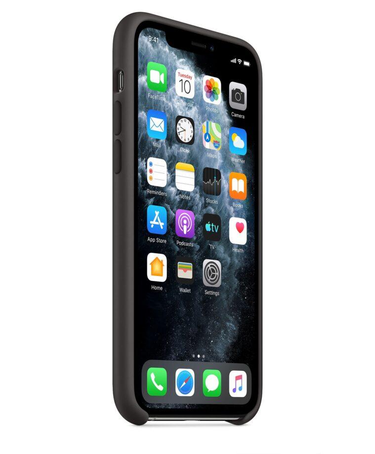 Funda Silicone Case para el iPhone 11 Pro Negro