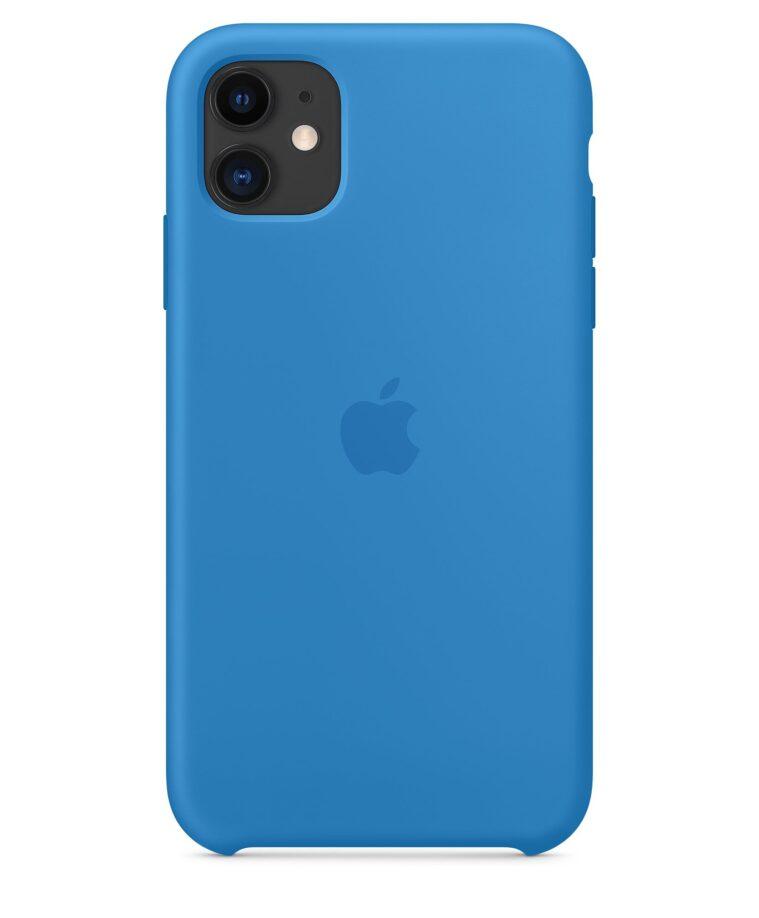 Funda Silicone Case para el iPhone 11 Azul surfero