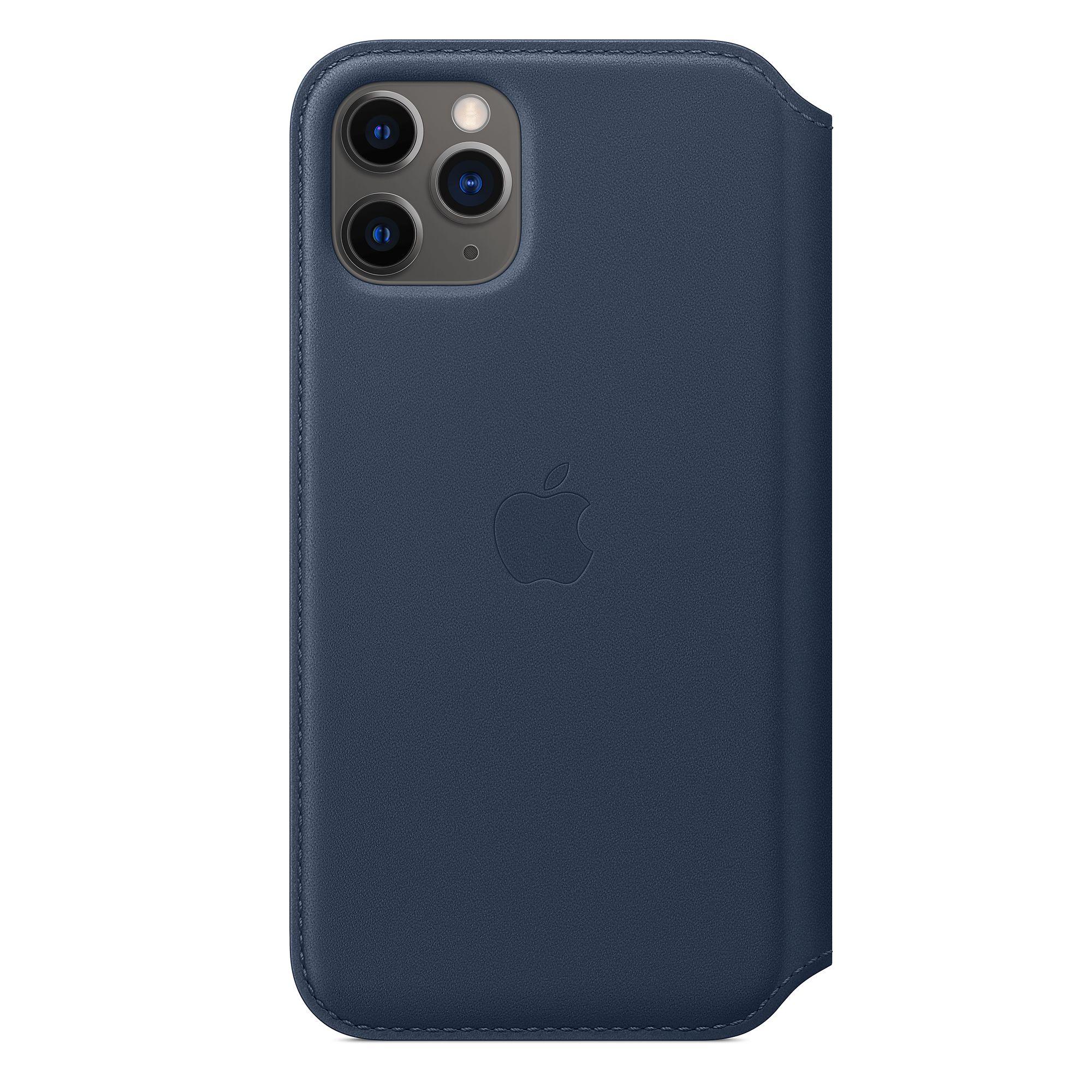 Funda Leather Folio para el iPhone 11 Pro Azul profundo