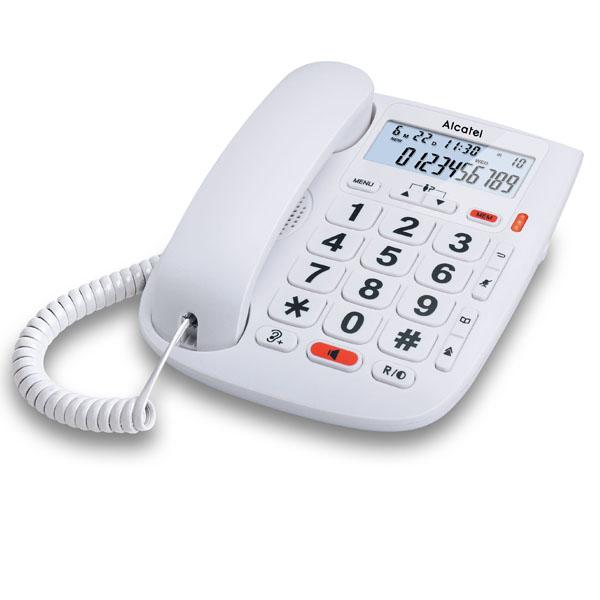 Alcatel telefono fijo compacto TMax20 blanco