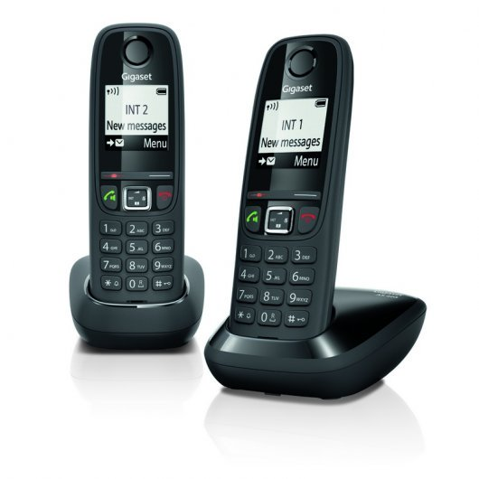 Gigaset AS405 Teléfono Dect Duo Negro