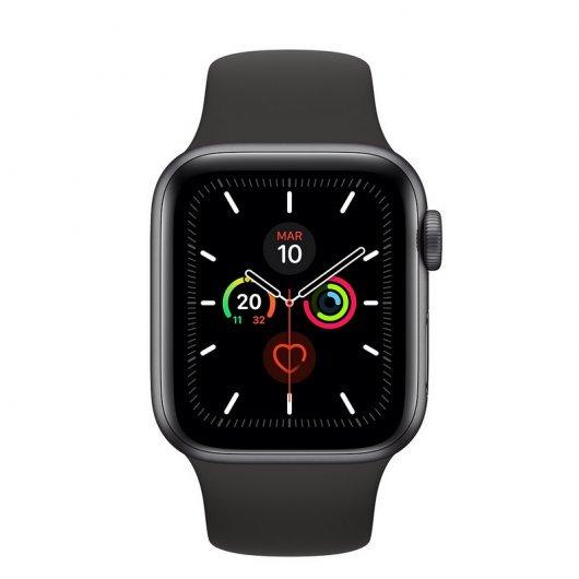 Apple Watch Series 5 GPS 44mm + Cellular Gris Espacial con Correa Deportiva Negra