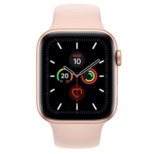 Apple Watch Series 5 GPS 44mm Aluminio Dorado con Correa Deportiva Rosa Arena