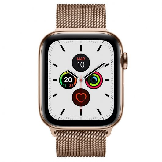 Apple Watch Series 5 GPS 44mm + Cellular Acero Inoxidable Dorado con Correa Metálica Dorada