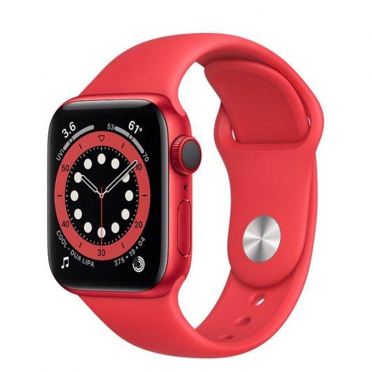 Apple Watch 6 GPS 40mm Aluminio Rojo-Correa deportiva Roja
