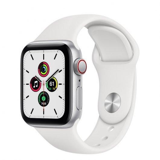 Apple Watch 6 GPS + Cellular 40mm Aluminio Plata - Correa deportiva Blanca