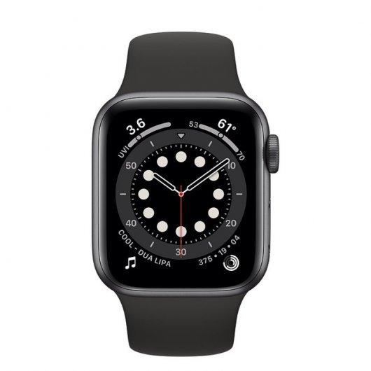 Apple Watch 6 GPS + Cellular 40mm Aluminio Gris Espacial - Correa deportiva Negra