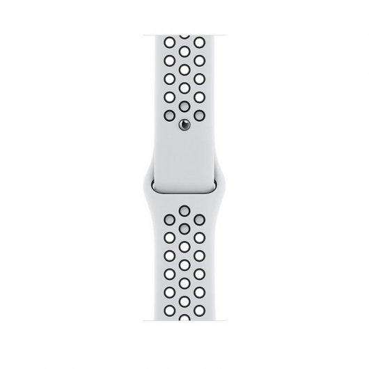 Apple Watch Nike 6 GPS+Cellular 44mm Alum Plata - Correa deportiva Platino/Negra