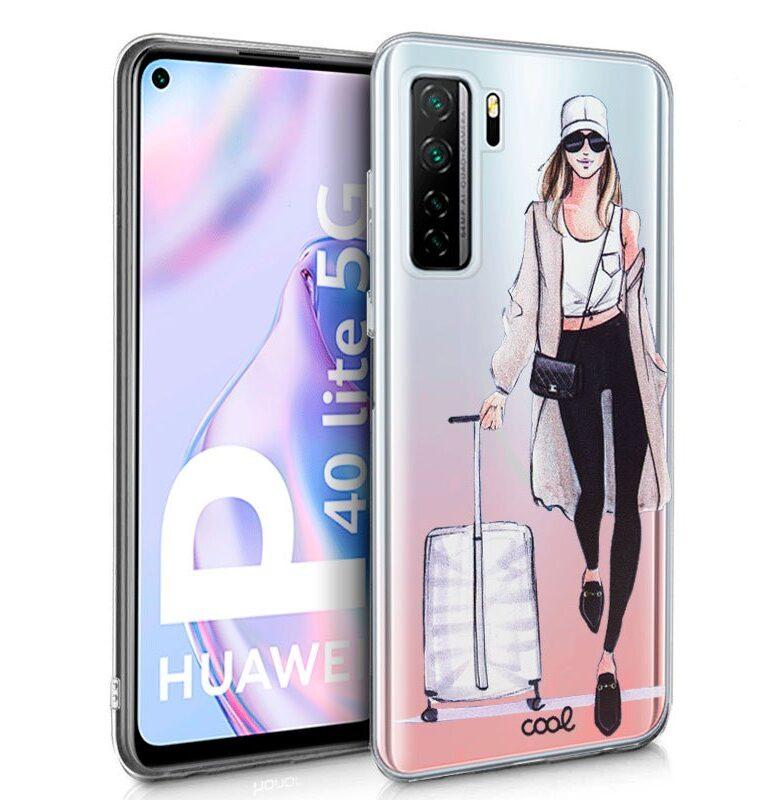 Funda Flip Cover Huawei P40 Lite 5G Clear Girl