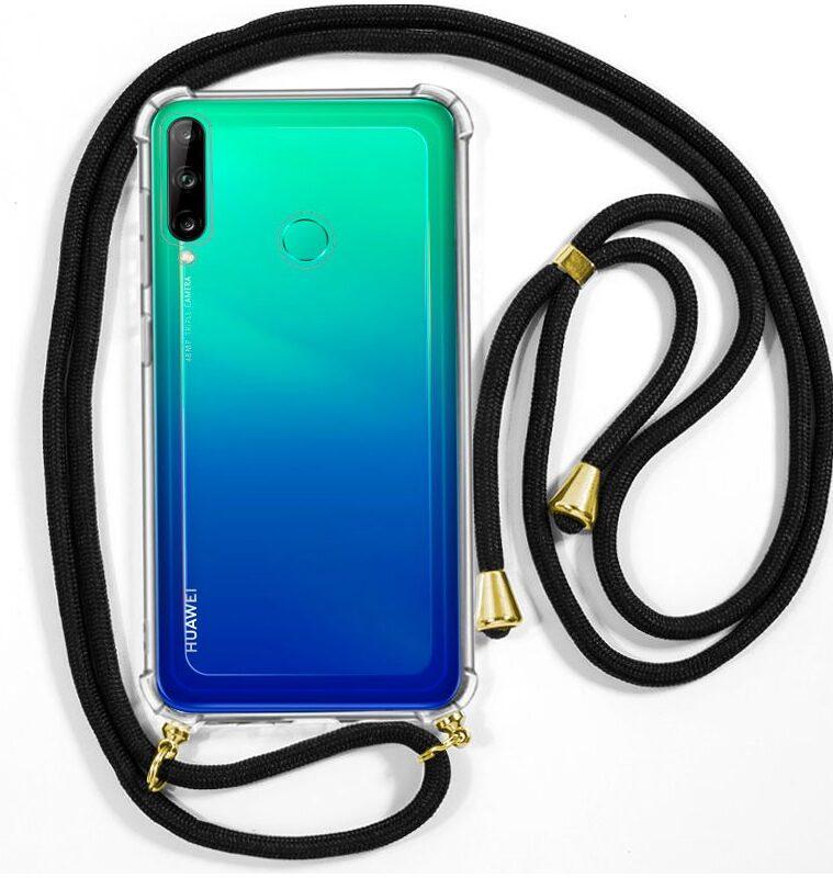 Funda Silicona 3D Huawei P40 Lite E Cordón Negro