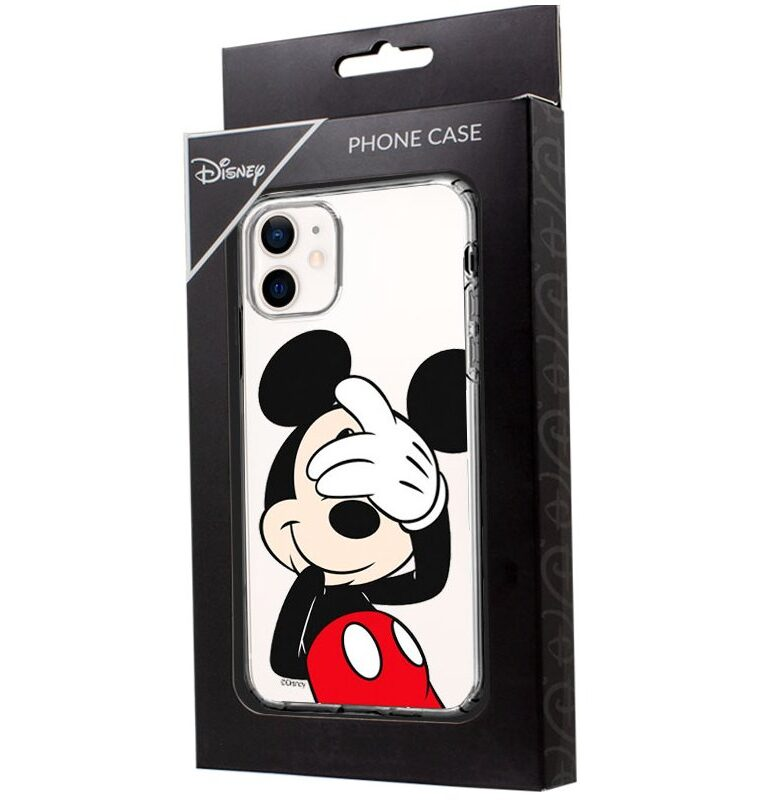 Carcasa Para IPhone 12 Mini Licencia Disney Mickey (Transparente)