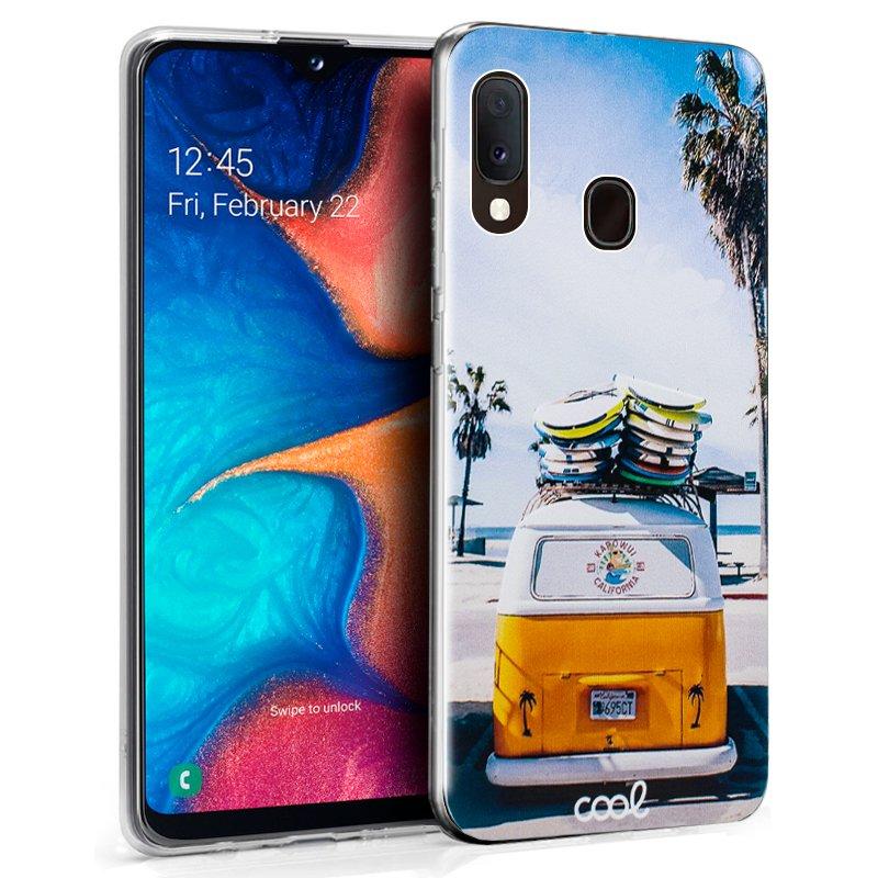 Funda Silicona Samsung A202 Galaxy A20e Dibujos Furgo