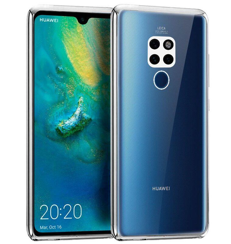 Carcasa Huawei Mate 20 Borde Metalizado (Plata)