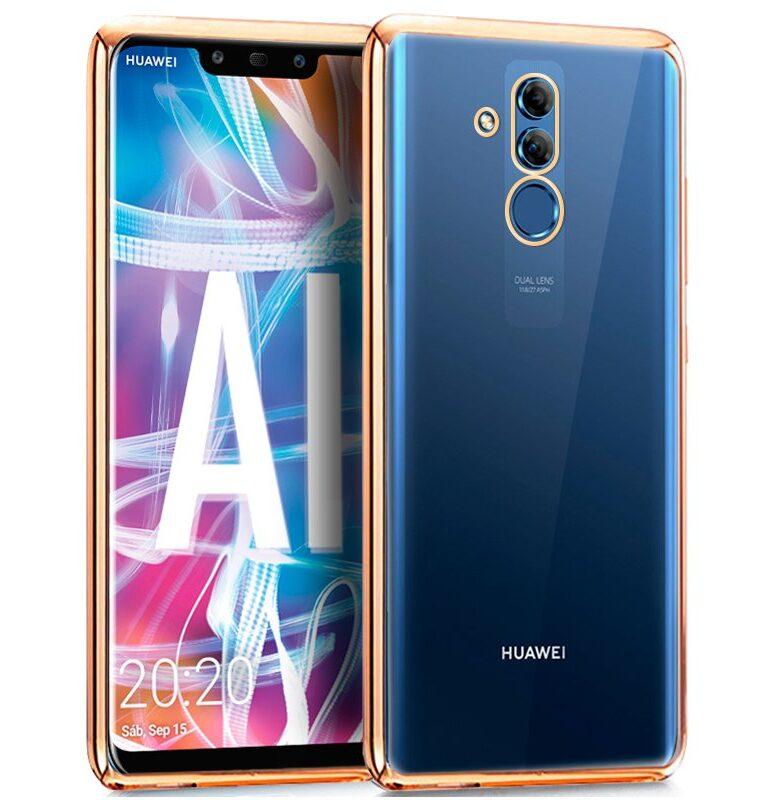 Carcasa Huawei Mate 20 Lite Borde Metalizado (Dorado)