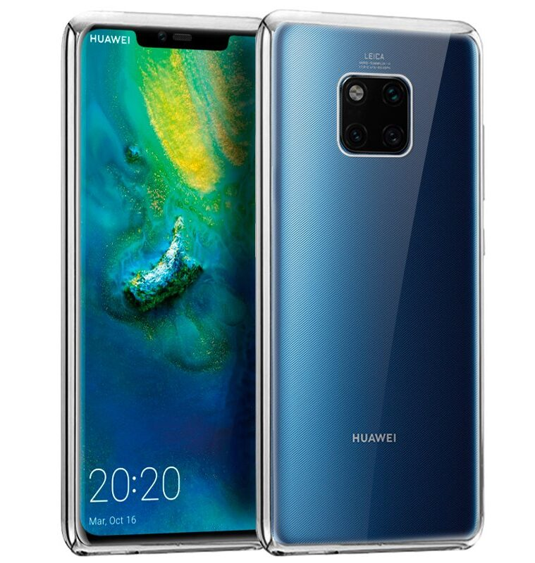 Carcasa Huawei Mate 20 Pro Borde Metalizado (Plata)
