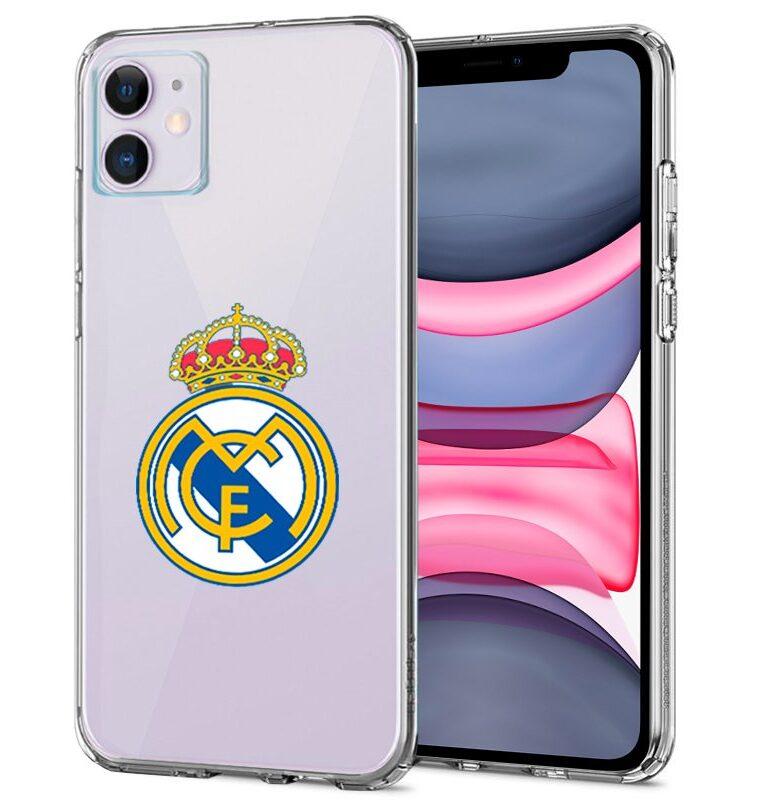 Carcasa IPhone 11 Licencia Fútbol Real Madrid Transparente