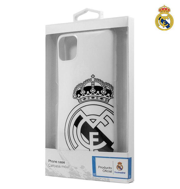 Carcasa IPhone 11 Pro Licencia Fútbol Real Madrid Blanca Escudo