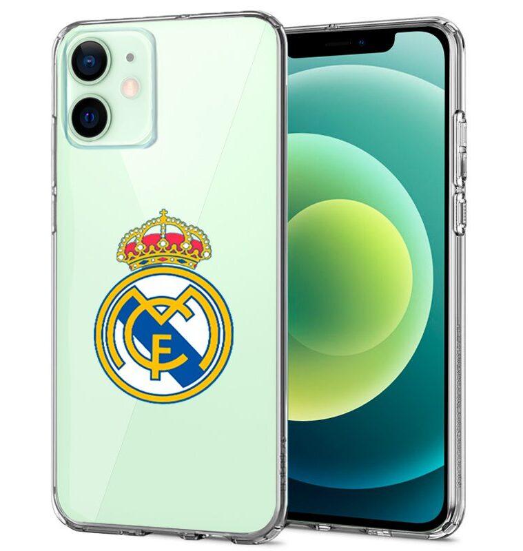 Carcasa IPhone 12 / 12 Pro Licencia Fútbol Real Madrid Transparente