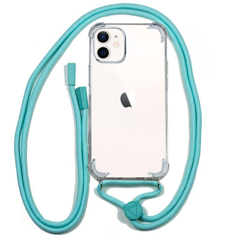 Carcasa IPhone 12 Mini Cordón Celeste