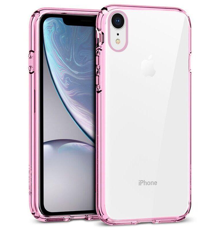 Carcasa IPhone XR Borde Metalizado (Rosa)