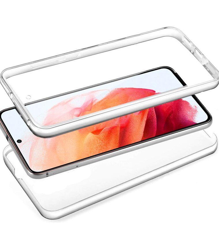 Funda Silicona 3D Samsung G990 Galaxy S21 (Transparente Frontal + Trasera)