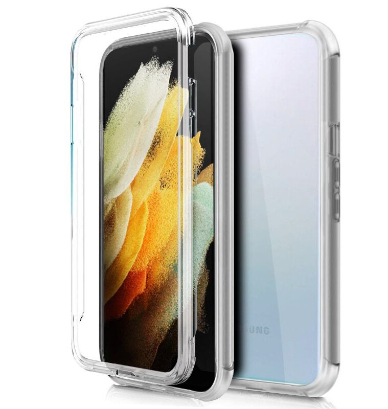 Funda Silicona 3D Samsung G998 Galaxy S21 Ultra (Transparente Frontal + Trasera)