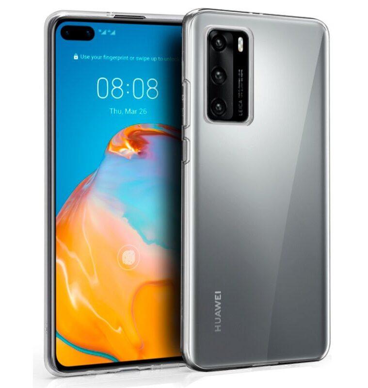 Funda Silicona Para Huawei P40 (Transparente)