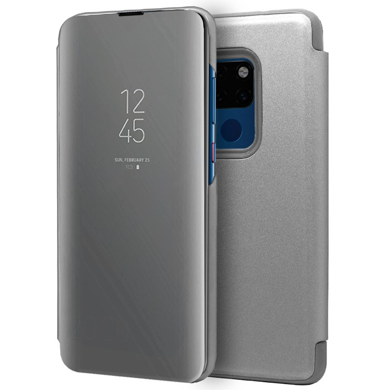 Funda Flip Cover Huawei Mate 20 Clear View Plata