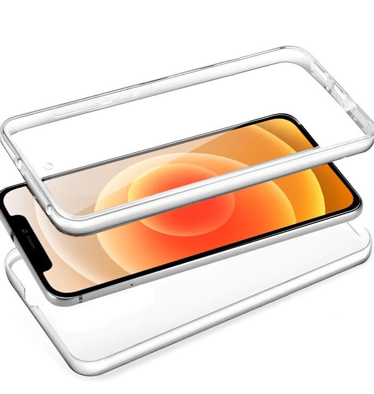 Funda Silicona 3D IPhone 12 Mini (Transparente Frontal + Trasera)