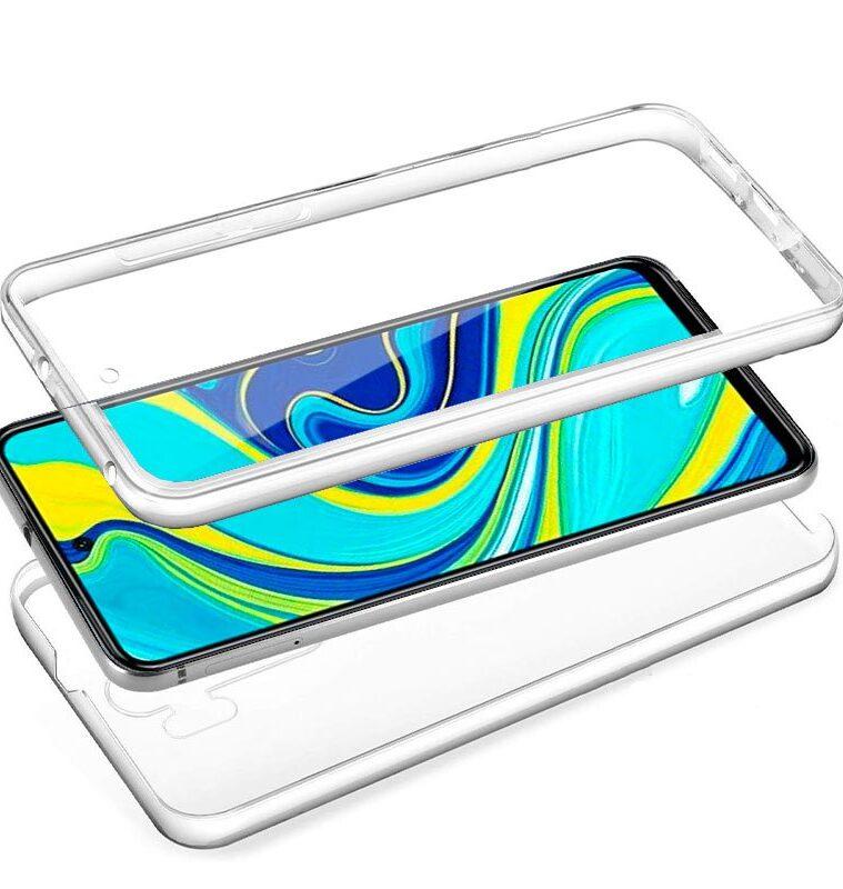 Funda Silicona 3D Xiaomi Redmi Note 9S / Note 9 Pro (Transparente Frontal + Trasera)