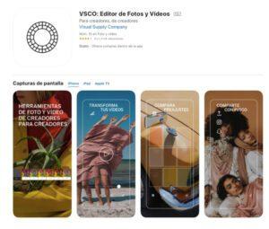 VSCO es una aplicación muy similar a Instagram.