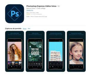 Adobe Photoshop Express es la versión para móviles de Adobe Photoshop