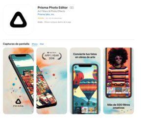 Prisma es una aplicación para edición de fotografías.